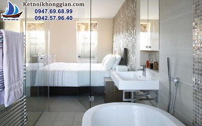 thiết kế phòng tắm thông thống