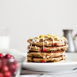 Whole Wheat Cranberry Pancakes.