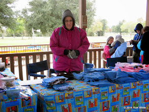 Photo: Marge Leventon, enduring the cold    HALS Public Run Day 2014-1115 RPW  12:05 PM