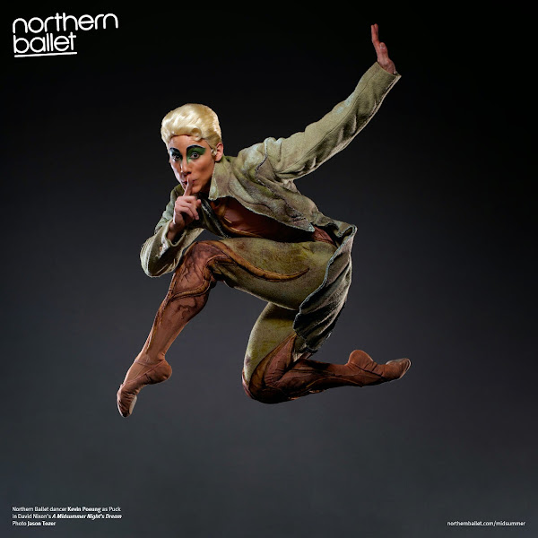 Photo: Northern Ballet dancer Kevin Poeung as Puck in David Nixon's A Midsummer Night's Dream. Photo Jason Tozer.
