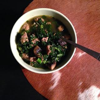Sausage Kale & Mushroom Soup.