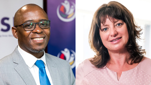 CSIR CEO Dr Thulani Dlamini and Siemens Southern and Eastern Africa CEO Sabine Dall'Omo.
