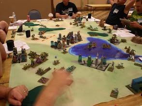 Photo: Nice view of the whole battlefield, if not for the blurry hand.