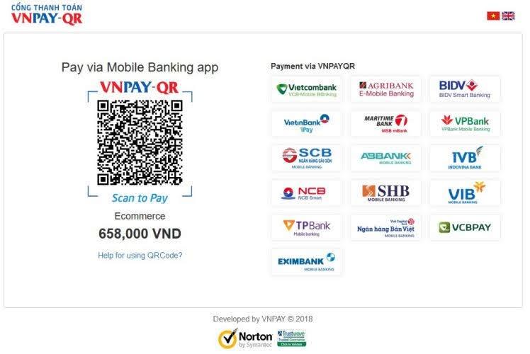 thanh toán VNPAY-QR