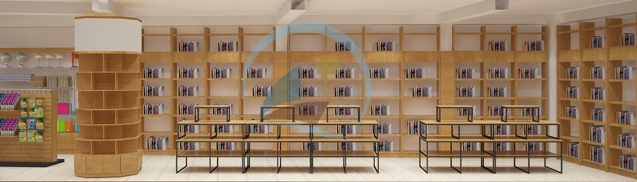 thiết kế nội thất nhà sách Trí Đức 6