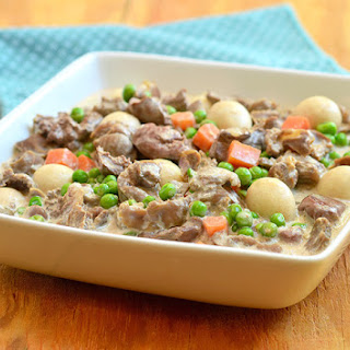 Liver and Gizzard with Green Peas.