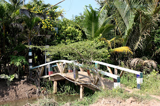 Photo: Year 2 Day 30 -  Small Bridges in to Houses in the Mekong Delta