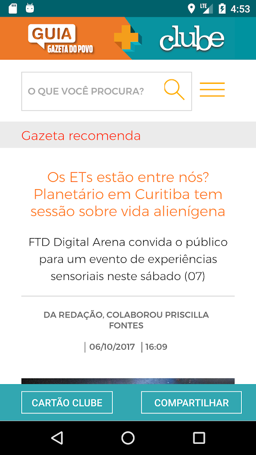 Guia Gazeta do Povo + Clube- screenshot