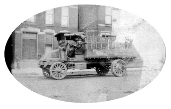 Photo: Possibly Mack AC truck developed for WW I produced until 1936, Uncle Ed driving.
