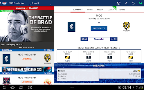 AFL Live Official App - screenshot thumbnail