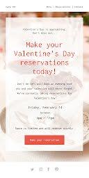 Valentine's Day Reservations - Valentine's Day item