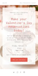 Valentine's Day Reservations - Valentine's Day item