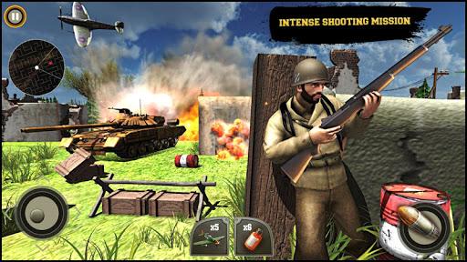 World War ww2 Firing battlegrounds: Free Gun Games android2mod screenshots 3