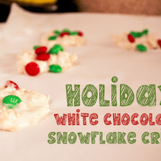 Holiday White Chocolate Snowflake Crisps