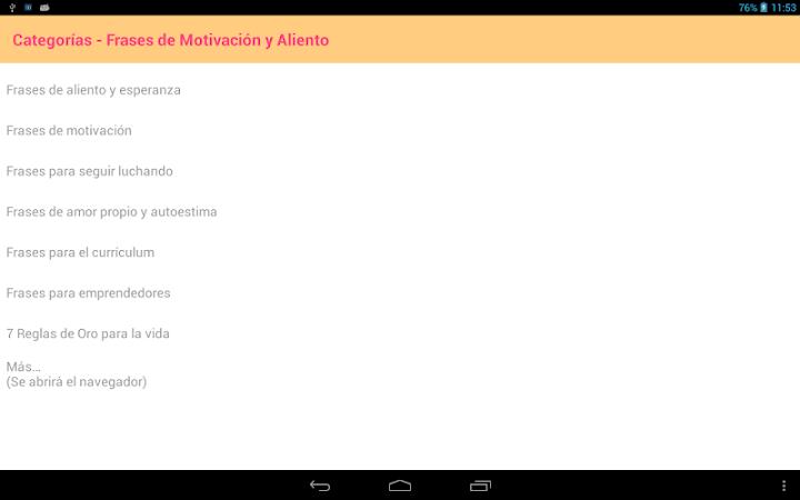 Frases De Motivacion Y Aliento On Google Play Reviews Stats