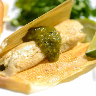 Tamales With Rajas and Oaxacan Cheese.