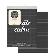 Kelly Creates Travel Practice Pad 6X8 50/Pkg - Black/Lined