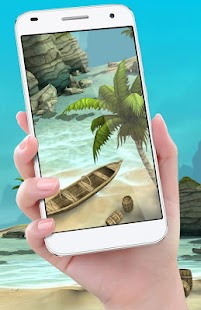 Beach Live Wallpaper HD Background: Island 3D - náhled