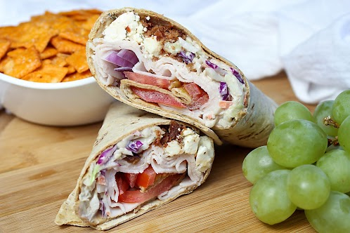 Cindy's Turkey Bacon Feta Wraps