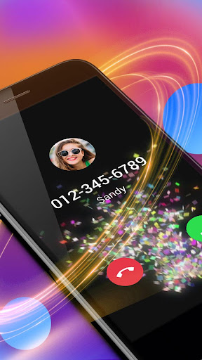 Colorful Papers Caller Screen 1.0.3 screenshots 2