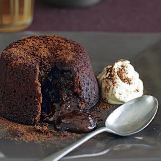 Chocolate Volcano Cakes.