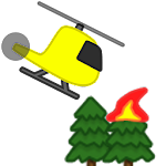 Fire Helicopter Icon