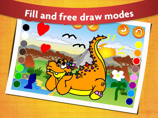 Kids Dinosaur Coloring Pages - Free Dino Game screenshots 1