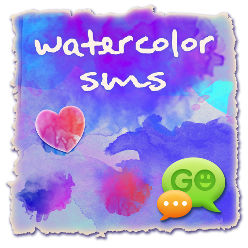 Watercolors GO SMS 個人化 LOGO-玩APPs