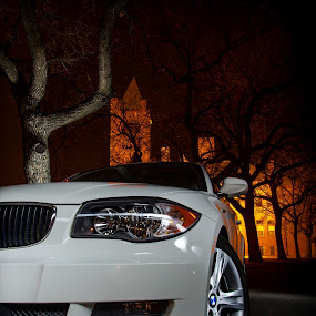 Under the Pillar of Fire by Stephen Gruber - Transportation Automobiles ( bmw 128i lightpainting )