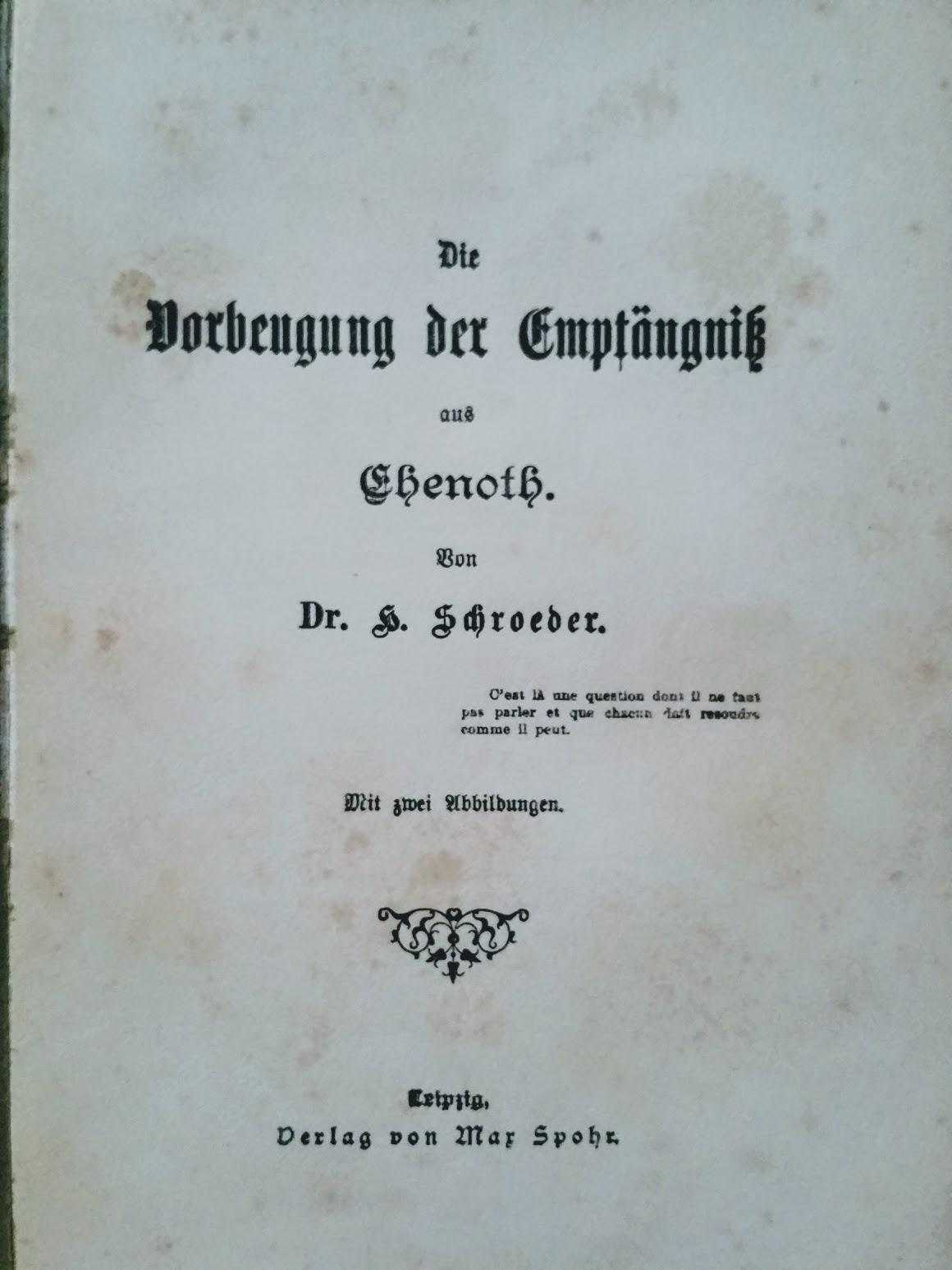 Die Vorbeugung der Empfängniss aus Ehenoth - 1892