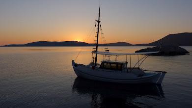 Photo: Sunrise at Agios Petrus beach