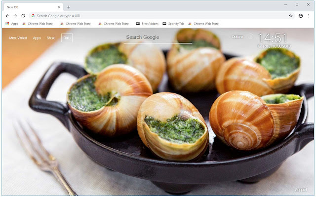 French Cuisine HD Wallpapers New Tab Themes