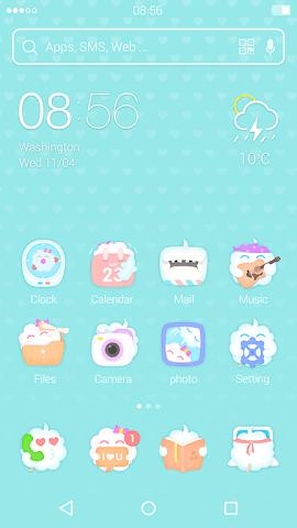 android CandyFloss : DU Launcher Theme Screenshot 0