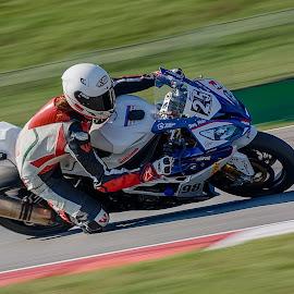 Karel Hanika on the track by Jiri Cetkovsky - Sports & Fitness Motorsports ( panning, karel, drive, promo, road, hanika )