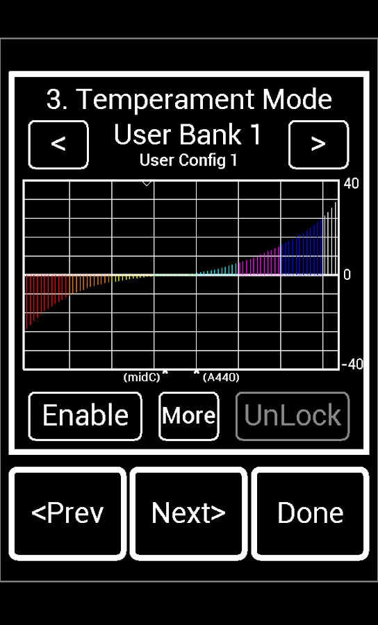 Precision Strobe Tuner Demo- screenshot