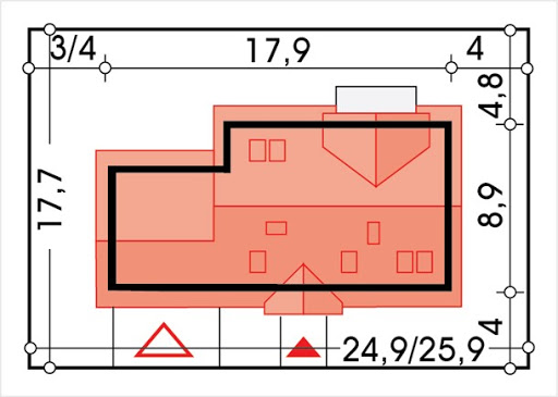 Słoneczko 2 wersja C z podwójnym garażem - Sytuacja