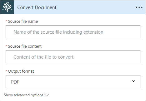 Convert Document Flow Action