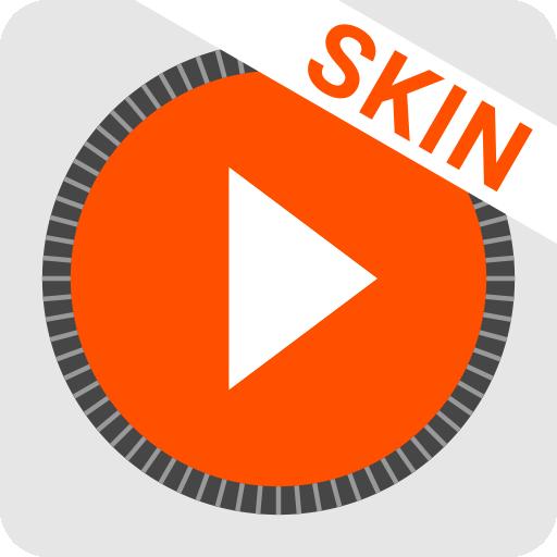MusiX Material Light Orange Skin for music player