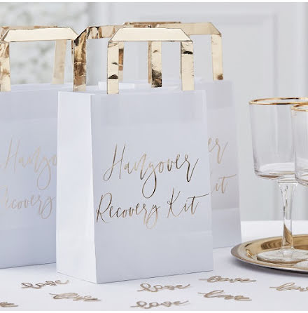Påsar Hangover kit - Gold wedding
