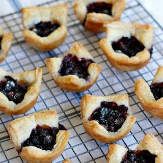 Mini Blueberry Tarts in a Muffin Tin.