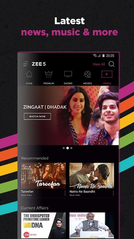 ZEE5 - Movies, TV Shows, LIVE TV & Originals screenshots