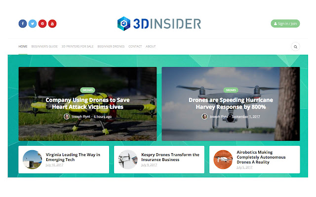 3D Insider Redirect to Website