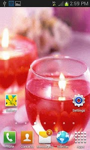 Glass Candle Live Wallpaper screenshot 1