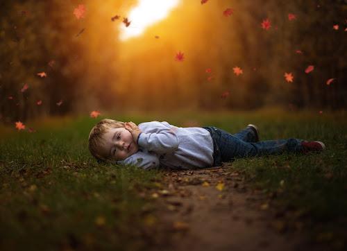 Rain of leaves by Piotr Owczarzak - Babies & Children Children Candids ( park, autumn, chhildren, boy,  )