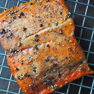 Maple & Black Pepper Smoked Salmon.
