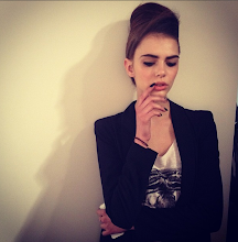 Photo: LFW - model backstage at PPQ Fall 2013.  @fashiontv