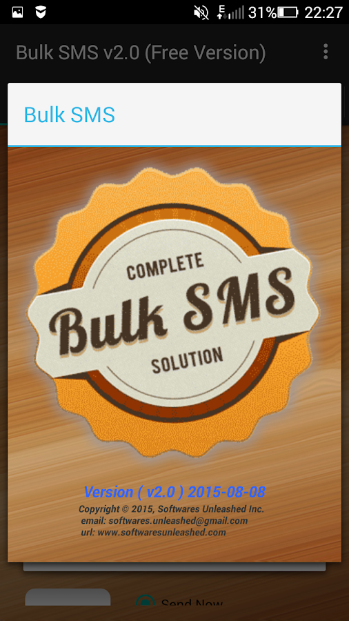 Bulk SMS (Free)- screenshot