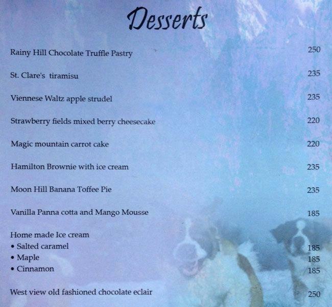 Music & Mountains menu 26