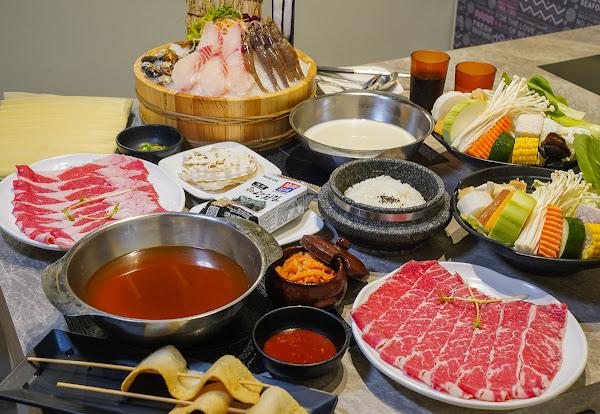 愛河家樂福人氣火鍋~超韓式泡菜鍋全餐!還有石鍋飯和魚糕唷~-哈肉鍋