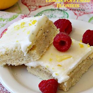 Lemon Poppyseed Blondies Recipe